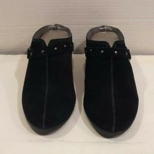 Sporto Wedge Suede Leather Black Size 8 M Slip On